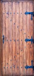 Sticker Porte en Vieux Bois 2