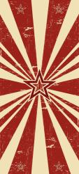 Sticker Porte Rayons De Soleil Rouges