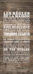 Sticker Porte Les Regles De La Maison