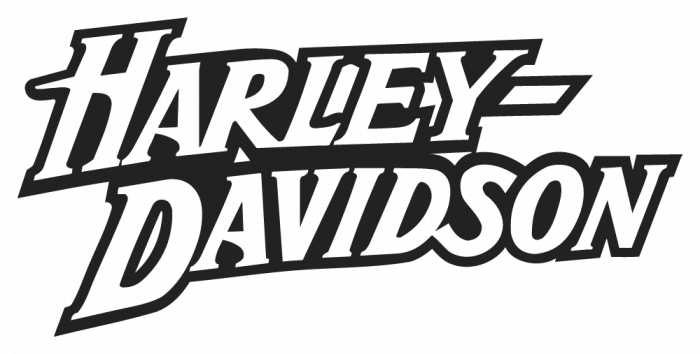 Harley Davidson Logo Stencil Sticker on Land Rover Outline