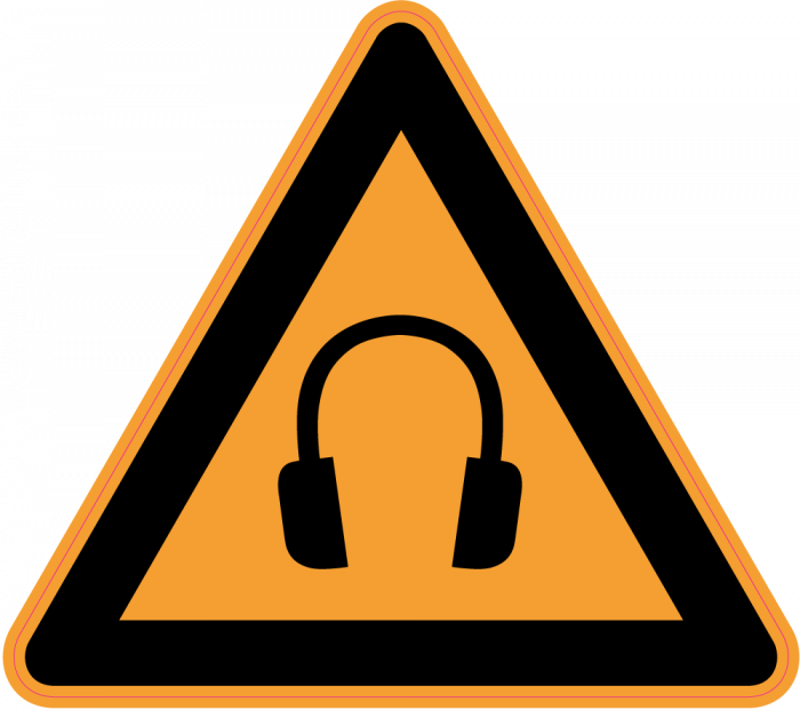 panneau danger port du casque anti bruit obligatoire mpa d co. Black Bedroom Furniture Sets. Home Design Ideas