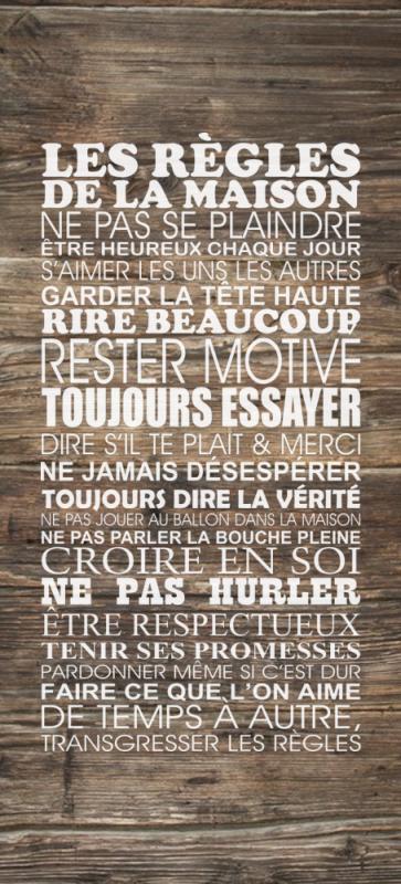 Sticker Frigo Les Regles De La Maison Ref Sfregle37942278
