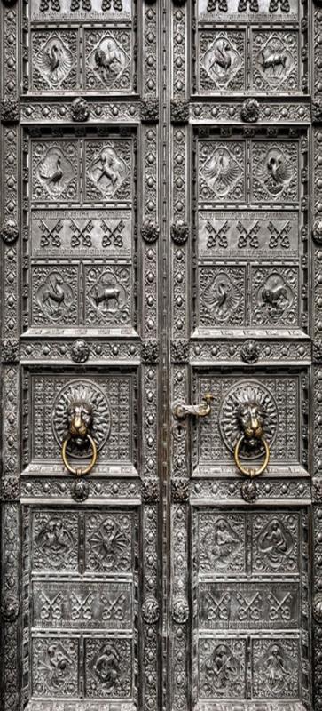 Sticker porte orientale en metal mpa d co for Sticker porte orientale