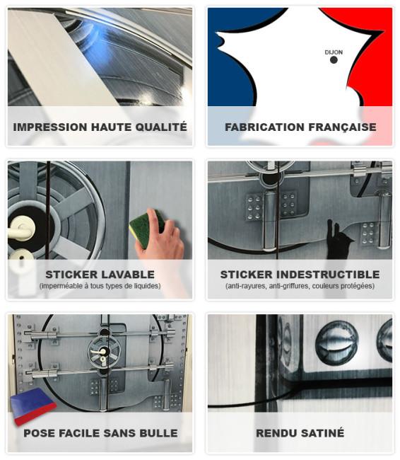 Avantages décoration adhésive frigo