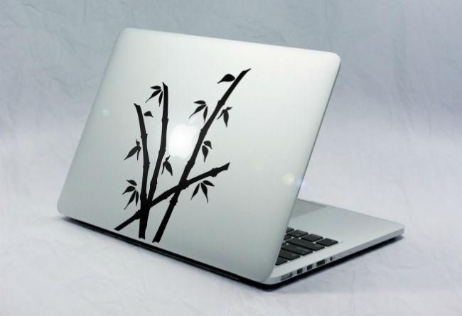 Sticker Macbook Bambou