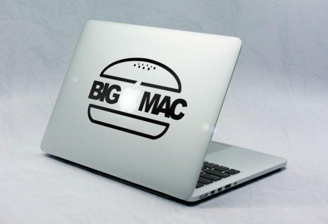 Sticker Macbook Big Mac