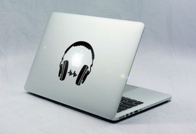 Sticker Macbook Casque Audio
