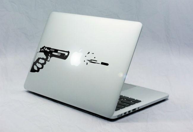 Sticker Macbook Coup de Feu