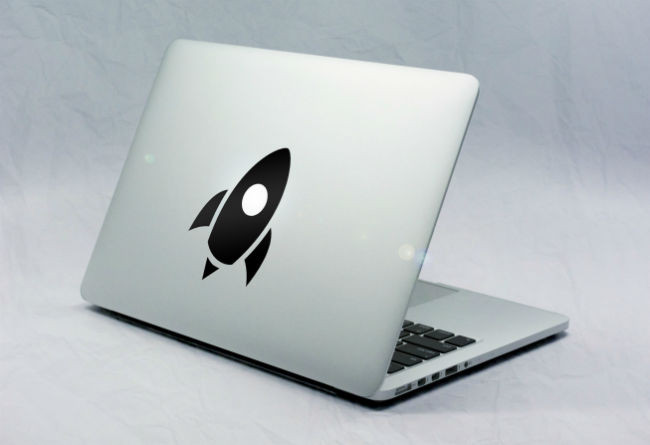 Sticker Macbook Fusée