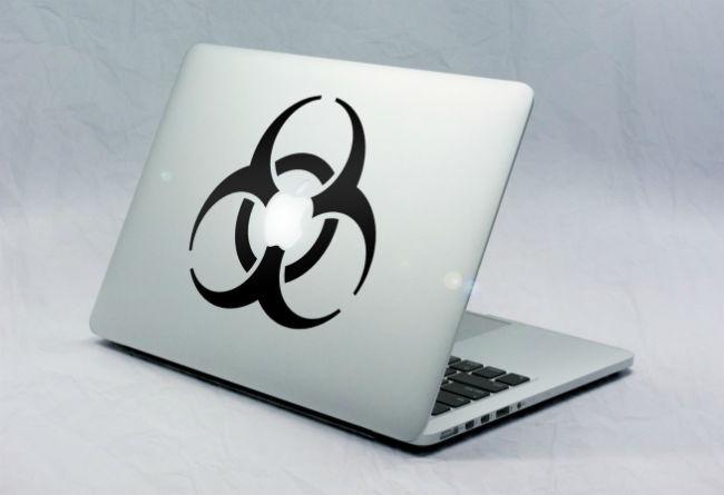 Sticker Macbook Bio Hazard