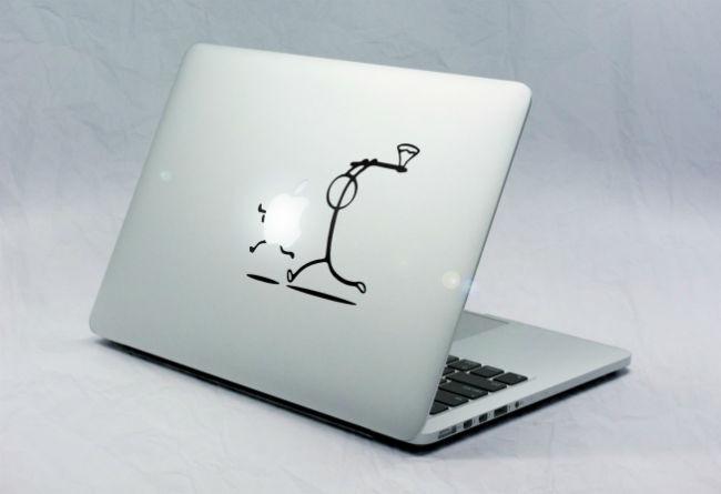 Sticker Macbook Bonhomme Hache Pomme