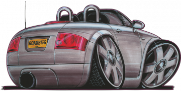 Audi TT_Cab - Stickers Caricatures Tuning