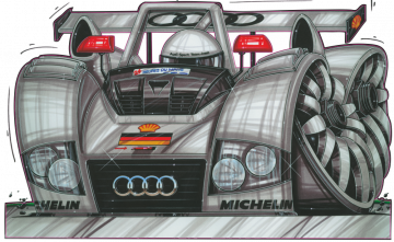 Audi R8R - Stickers Caricatures Tuning