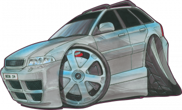 Audi A4 - Stickers Caricatures Tuning