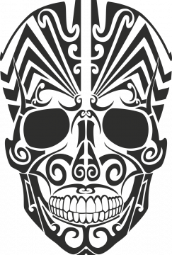 Sticker Tribal Skull - Stickers Tribal