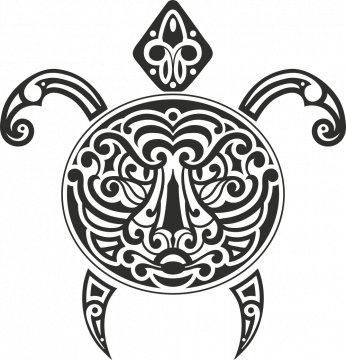 Sticker Tortue Tribal 1 - Stickers Tribal