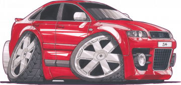 Audi S4 - Stickers Caricatures Tuning