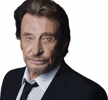Autocollant Johnny Hallyday - Stickers Personnages