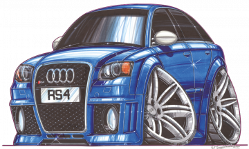 Audi RS4 - Stickers Caricatures Tuning