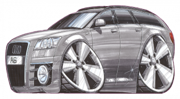 Audi A6 - Stickers Caricatures Tuning