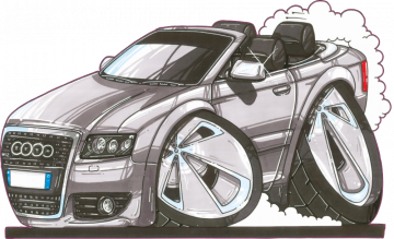 Audi A8_W12_Cab - Stickers Caricatures Tuning