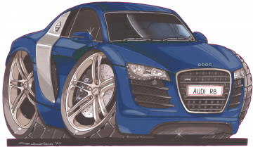 Audi_R8_Blue - Stickers Caricatures Tuning
