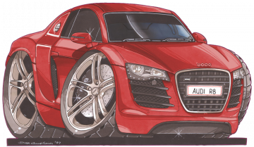 Audi_R8_Red - Stickers Caricatures Tuning
