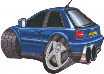 Audi A3 - Stickers Caricatures Tuning