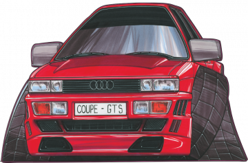 Audi Coupe_GT - Stickers Caricatures Tuning