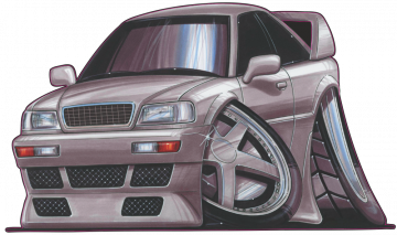 Audi 80_Evo - Stickers Caricatures Tuning