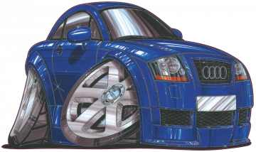 Audi TT - Stickers Caricatures Tuning