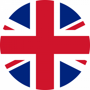 Autocollant Drapeau Royaume-Uni rond - Autocollants Drapeaux