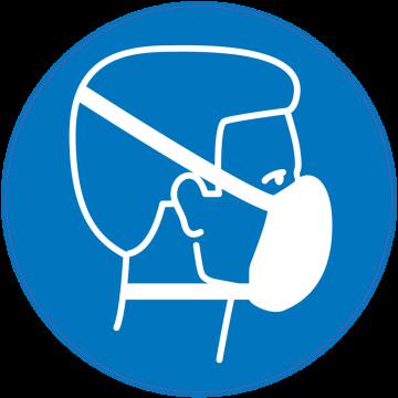 1de8d1b7e75948 Panneau Obligation Porter masque protection respiratoire - Autocollants  signalétique