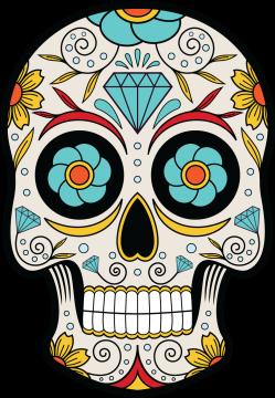 Calavera Tete De Mort Mexicaine 14 Ref D7452 Mpa Déco