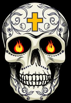 Calavera Tete De Mort Mexicaine 16 Ref D7454 Mpa Déco
