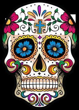 Calavera Tête De Mort Mexicaine 1 Ref D7439 Mpa Déco