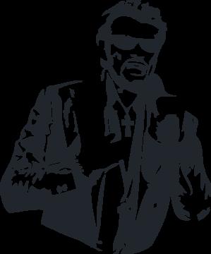 Sticker Johnny Hallyday 2 Ref 6793 Mpa Deco